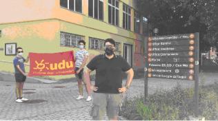 manifestazione Udu davanti alla sede Ergo Modena
