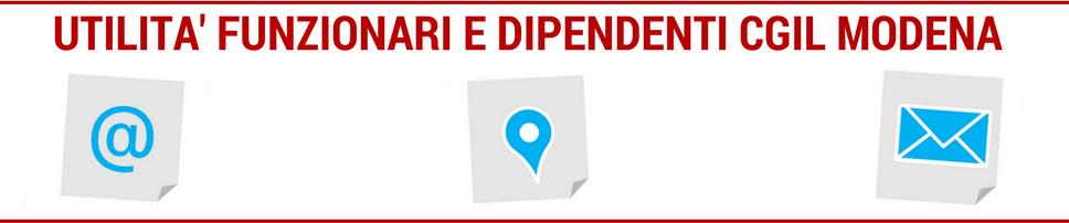 Utilità funzionatri e dipendenti Cgil Modena