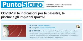 PuntoSicuro - COVID-19: le indicazioni per le palestre, le piscine e gli impianti sportivi