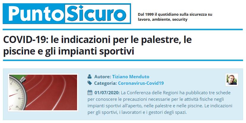 Covid 19 Le Indicazioni Per Le Palestre Le Piscine E Gli Impianti Sportivi Cgil Modena