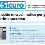 PuntoSicuro - COVID-19: il rischio microclimatico per gli operatori di primo soccorso