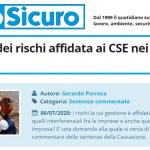 PuntoSicuro - La gestione dei rischi affidata ai CSE nei cantieri edili