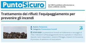 PuntoSicuro - Trattamento dei rifiuti: l'equipaggiamento per prevenire gli incendi