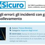 PuntoSicuro - Imparare dagli errori: gli incidenti con gli accessori di sollevamento