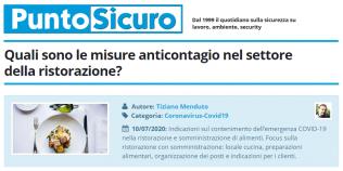 PuntoSicuro - Quali sono le misure anticontagio nel settore della ristorazione?