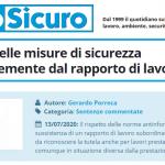 PuntoSicuro - L'adozione delle misure di sicurezza indipendentemente dal rapporto di lavoro