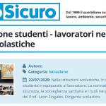 PuntoSicuro - L'equiparazione studenti - lavoratori nelle istituzioni scolastiche
