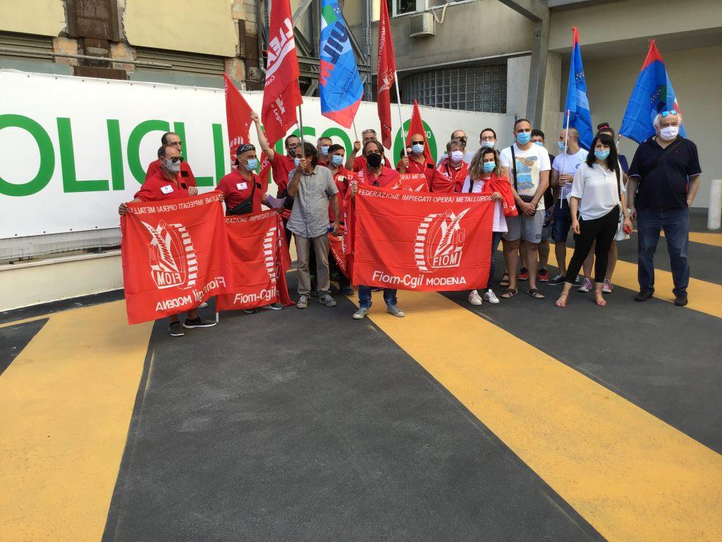 protesta Fiom manutentori Policlinico 6.7.20