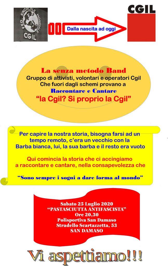 pastasciutta Modena S.Damaso Cantare la Cgil