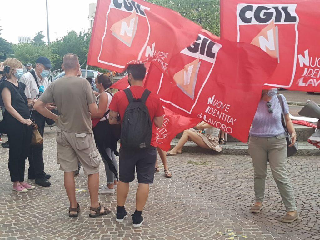 manifestazione somministratti sanità, Bologna, 24.7.20