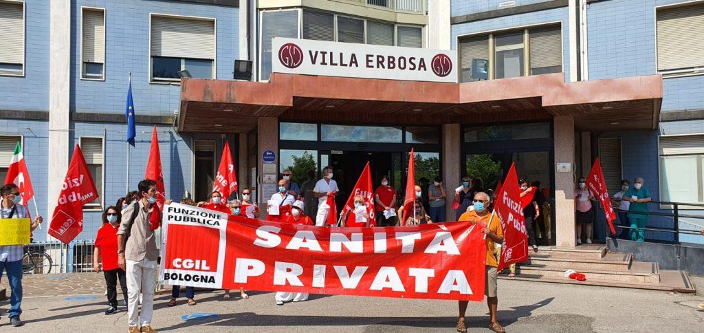 fp cgil er presidio villa erbosa 28 luglio 1