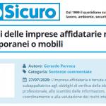 PuntoSicuro - Sugli obblighi delle imprese affidatarie nei cantieri temporanei o mobili