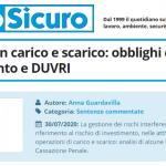 PuntoSicuro - Trasporto con carico e scarico: obblighi di coordinamento e DUVRI