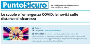 PuntoSicuro - Le scuole e l'emergenza COVID: le novità sulle distanze di sicurezza