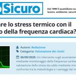 PuntoSicuro - Si può valutare lo stress termico con il monitoraggio della frequenza cardiaca?