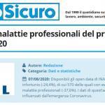 PuntoSicuro - Infortuni e malattie professionali del primo semestre 2020