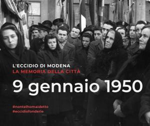 Mostra 9 gennaio 1950, l'eccidio di Modena