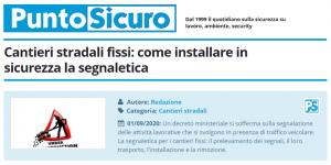 PuntoSicuro - Cantieri stradali fissi: come installare in sicurezza la segnaletica