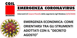 """Emergenza sanitaria ed economica Coronavirus - I contenuti del """"decreto agosto"""""""