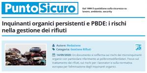 PuntoSicuro - Inquinanti organici persistenti e PBDE: i rischi nella gestione dei rifiuti