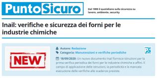 PuntoSicuro - Inail: verifiche e sicurezza dei forni per le industrie chimiche