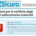 PuntoSicuro - Nuove istruzioni per le verifiche degli apparecchi di sollevamento materiali