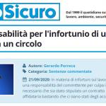 PuntoSicuro - Sulla responsabilità per l'infortunio di un lavoratore in un circolo