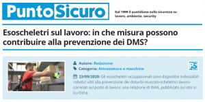 PuntoSicuro - Esoscheletri sul lavoro: in che misura possono contribuire alla prevenzione dei DMS?