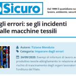 PuntoSicuro - Imparare dagli errori: se gli incidenti dipendono dalle macchine tessili