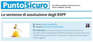 PuntoSicuro - Le sentenze di assoluzione degli RSPP