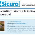 PuntoSicuro - Segnaletica e cantieri: i rischi e le indicazioni per i veicoli operativi