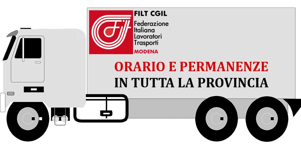 Filt Cgil Modena - Orari e permanenze in tutta la provincia
