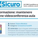 PuntoSicuro - COVID-19 e formazione: mantenere l'equiparazione videoconferenza-aula