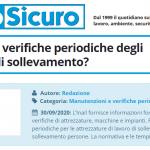 PuntoSicuro - Come fare le verifiche periodiche degli apparecchi di sollevamento?