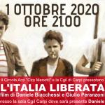 """1 ottobre 2020 - Proiezione del film """"l'Italia liberata"""" presso la Cgil di Carpi"""
