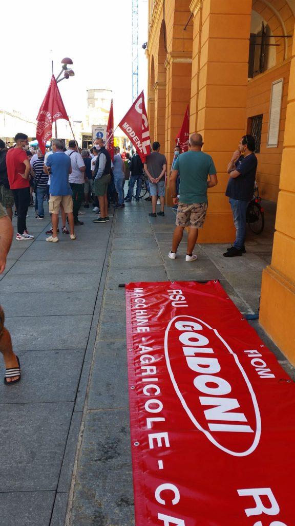 Goldoni Arbos sciopero e volantinaggio, 3.9.20 (2)