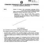 evasione fiscale delibera Comando GdF