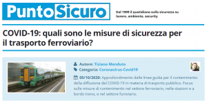 PuntoSicuro - COVID-19: quali sono le misure di sicurezza per il trasporto ferroviario?