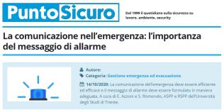 PuntoSicuro - La comunicazione nell'emergenza: l'importanza del messaggio di allarme