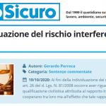 PuntoSicuro - Sulla individuazione del rischio interferenziale tra imprese