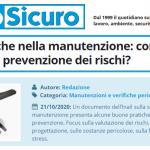 PuntoSicuro - Buone pratiche nella manutenzione: come migliorare la prevenzione dei rischi?
