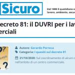 PuntoSicuro - I quesiti sul decreto 81: il DUVRI per i lavori nei centri commerciali