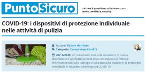 PuntoSicuro - COVID-19: i dispositivi di protezione individuale nelle attività di pulizia