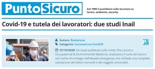 PuntoSicuro - Covid-19 e tutela dei lavoratori: due studi Inail