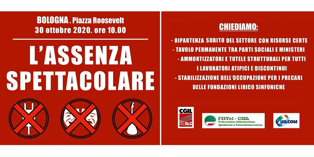L'assenza spettacolare manifestazione del 30 ottobre 2020 - Bologna