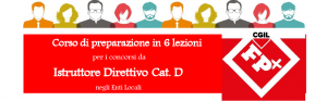 corso preparazione concorso Istruttore Direttivo CAT.D EELL