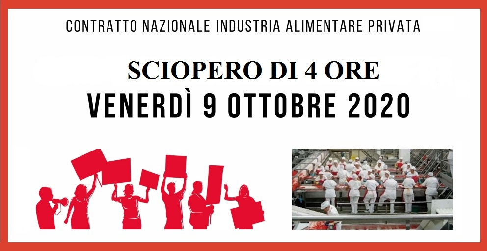 sciopero 9 ottobre industria alimentare