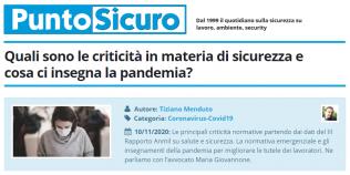 PuntoSicuro - Quali sono le criticità in materia di sicurezza e cosa ci insegna la pandemia?