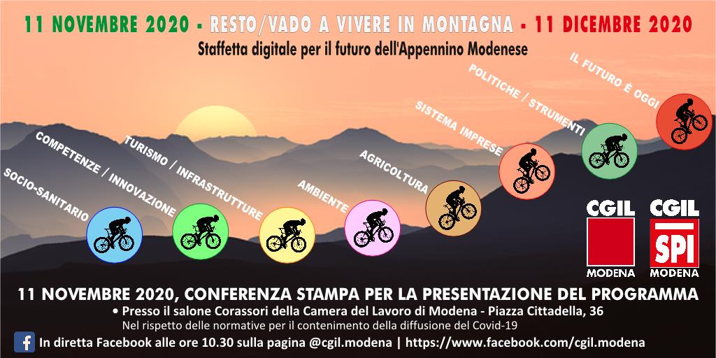 resto/vado a vivere in montagna, conferenza stampa 11.11.20