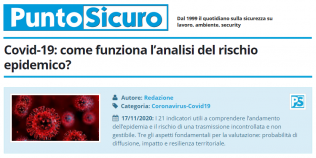 PuntoSicuro - Covid-19: come funziona l'analisi del rischio epidemico?